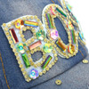 """BOSS"" Bling Studs Denim Baseball Cap CP9606"