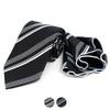 Striped Tie & Matching Pocket Round Set MPWTH170332
