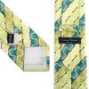 Striped Geometric Pattern Tie & Matching Pocket Round Set MPWTH170330