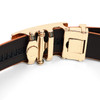 Men's Genuine Leather Sliding Buckle Ratchet Belt MGLBB11
