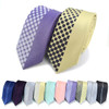 """Dotted Microfiber Poly Woven 2.25"""" Slim Panel Tie MPPW1629"""