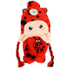 Kid's Winter Knitted Ear Flap Lined Polka Dot Lady Bug Pom Beanie Scarf and Hat Set - KKWS1730