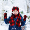 Kid's (6-12 Years Old) Fleece Red Plaid Winter Set WSET8020-RED-JR