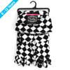 6pc Pack Junior's (6-12 Years Old) Fleece Black & White Checkered Winter Set WSET8060-JR