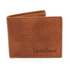 Bi-Fold Leather Wallet with Decorative Front Detail MLW5185