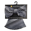 Striped Banded Bow Tie & Matching Hanky Pocket Round Set BTH170627