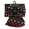 Checkered Pattern Banded Bow Tie & Matching Hanky Pocket Round Set BTH170637
