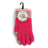 Junior's Two-Tone Knit Winter Gloves - 1013JFG