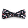 3pc Floral Wedding Cotton Banded Bow Tie - NFCB17121