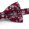 3pc Floral Wedding Cotton Banded Bow Tie - NFCB17128