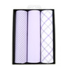 Men's Cotton Solid & Plaid Lavender Handkerchiefs - MFVB1713