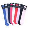 Men's Poly Solid Satin Slim Tie with Paper Band - PSBD
