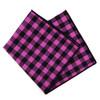 12pc Classic Plaid 100% Cotton Checked Pocket Square Handkerchiefs - CH17-CK