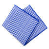 12pc Cotton Check Pocket Square Handkerchiefs - CH1716