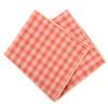 12pc Peach Color 100% Cotton Plaid Pocket Square Handkerchiefs - CH1729