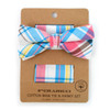 Men's Pastel Colors Plaid Cotton Bow Tie & Matching Pocket Square - CBTH1715