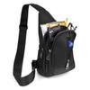 Black Crossbody  Sling Bag Backpack with Adjustable Strap - FBG1823-BK