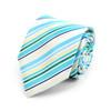 Striped Dots Microfiber Poly Woven Tie - MPW5921