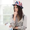 Spring/Summer Stars & Stripes American Flag Trilby Fedora Hat - H10402