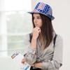 Spring/Summer American Flag Trilby Fedora Hat - H10407