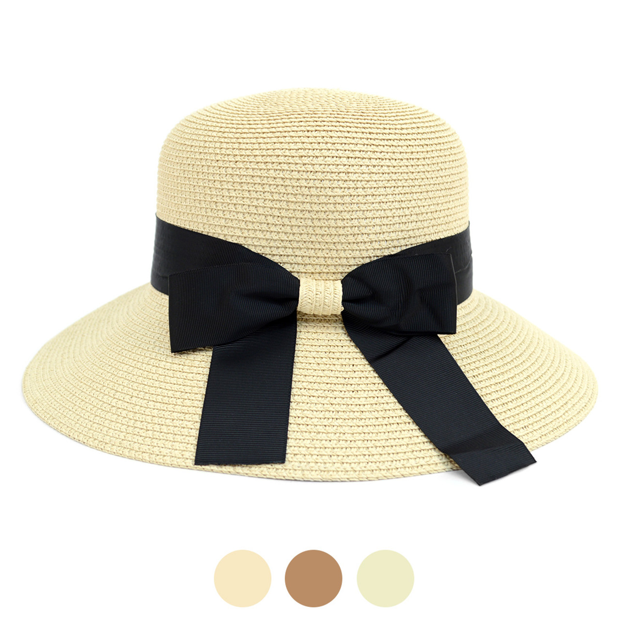 f982cba17ad462 Women's Floppy Sun Hat with Ribbon Bow-knot - LFH180502