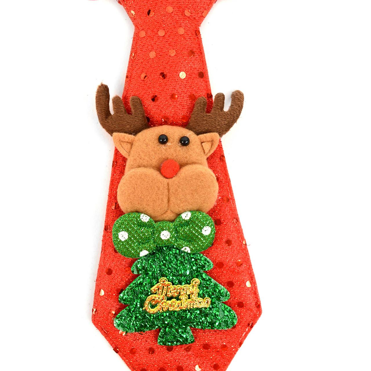 Christmas Tie.Light Up Reindeer Christmas Tie Xap5313 Rd
