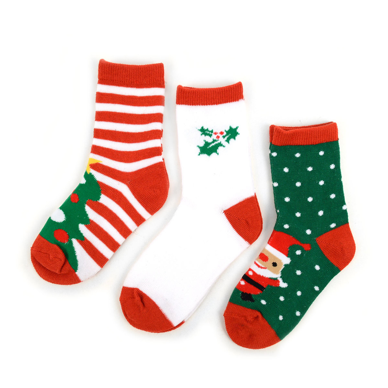 360cee5532c 3 Pairs Pack Kids Christmas Holidays Crew Socks 4-7 Yrs - 3PK-47KXMS