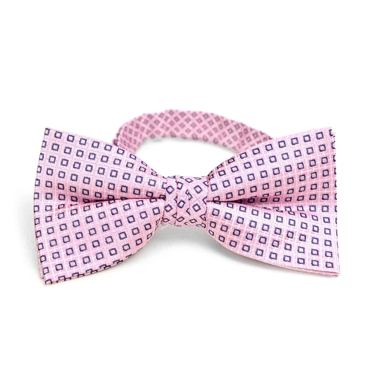 de5544a60248 3pc Men's Pink Clip-on Suspenders, Dots Bow Tie & Hanky Sets - FYBTHSU-PK#1