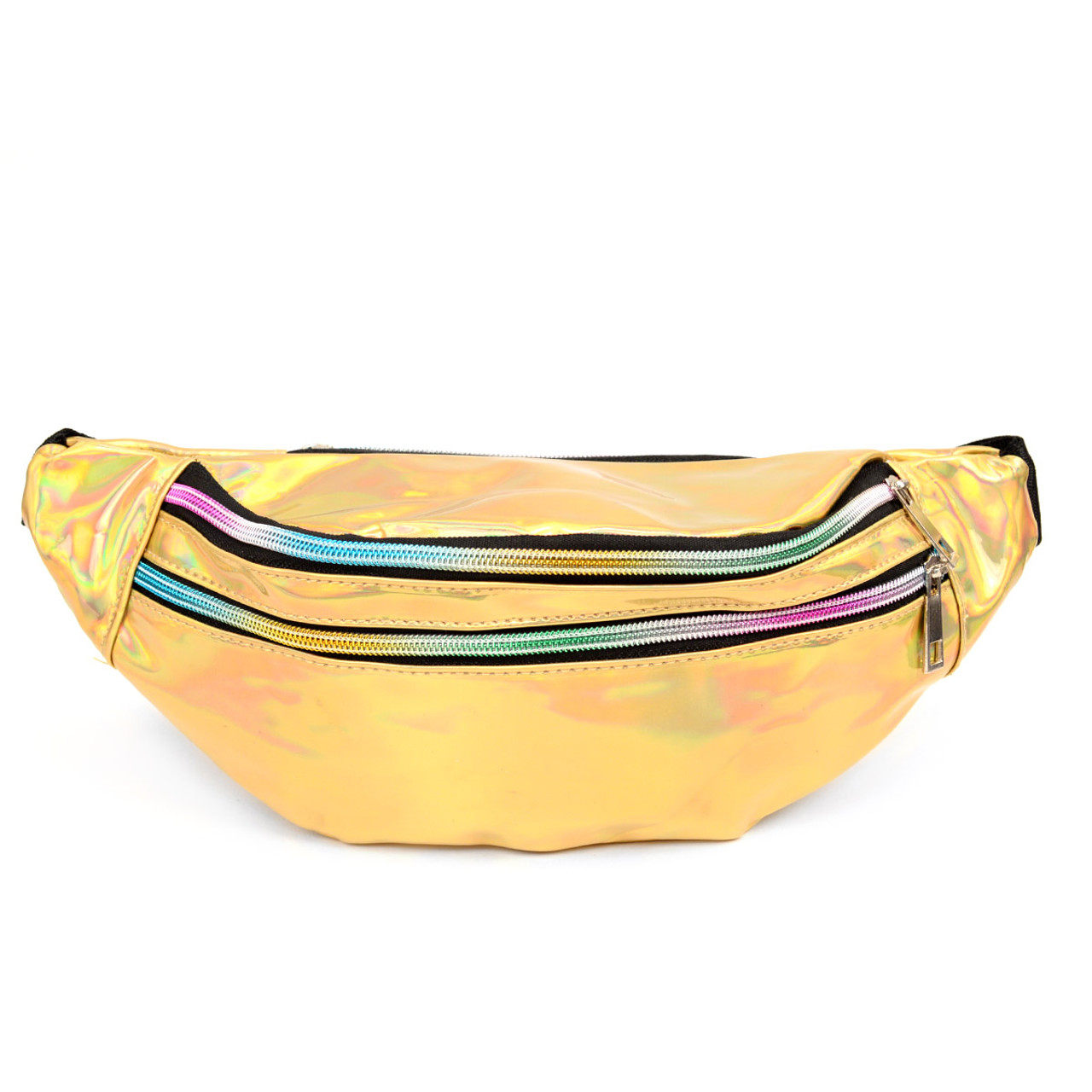 9d17c22be2ad Gold Iridescent Holographic Waist Fanny Pack - LFBG1301