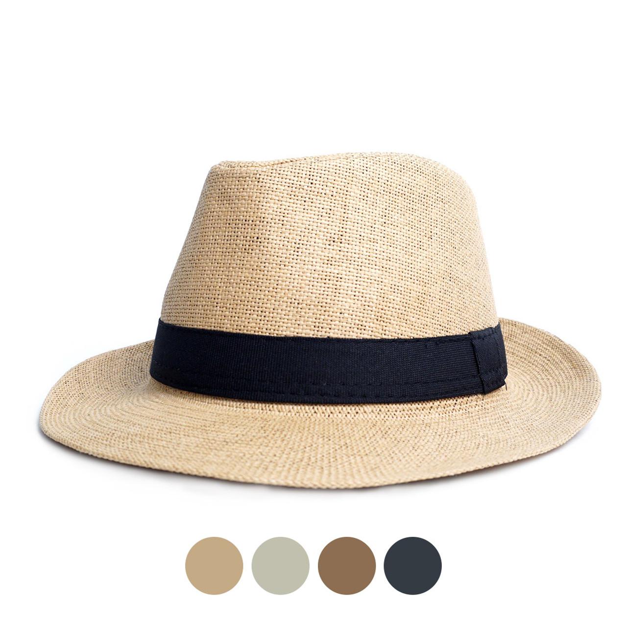 88a71445ef7ec Spring Summer Wide Brim Fedora Hat - H180601