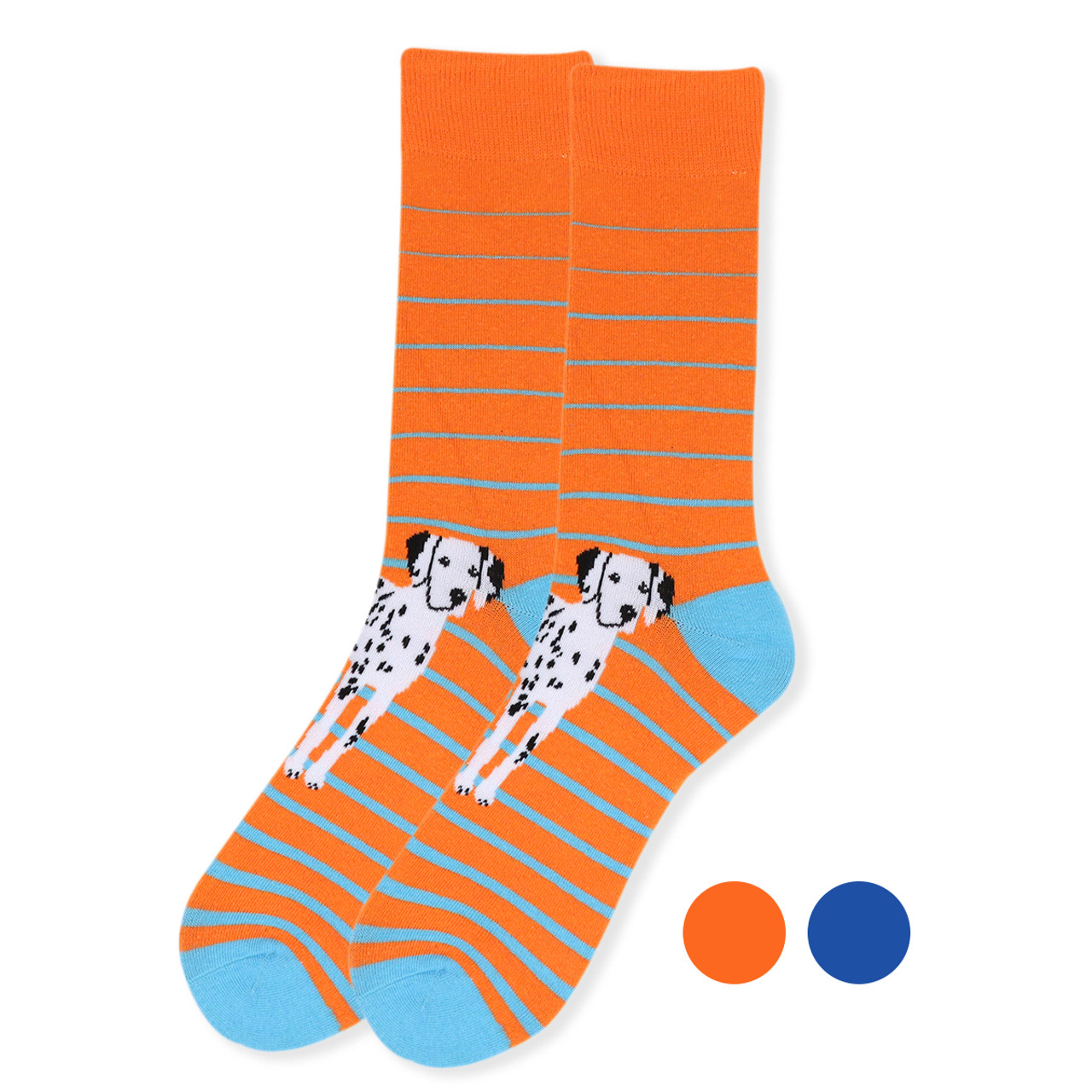 c718dbba8867 Men's Novelty Dalmatian Dogs Socks - NVS19410
