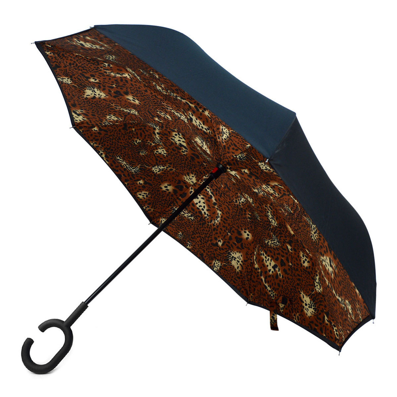 Reverse Folding Umbrella for Car Double Layer Inverted Umbrellas with Funny Owl Mother Mummy Print