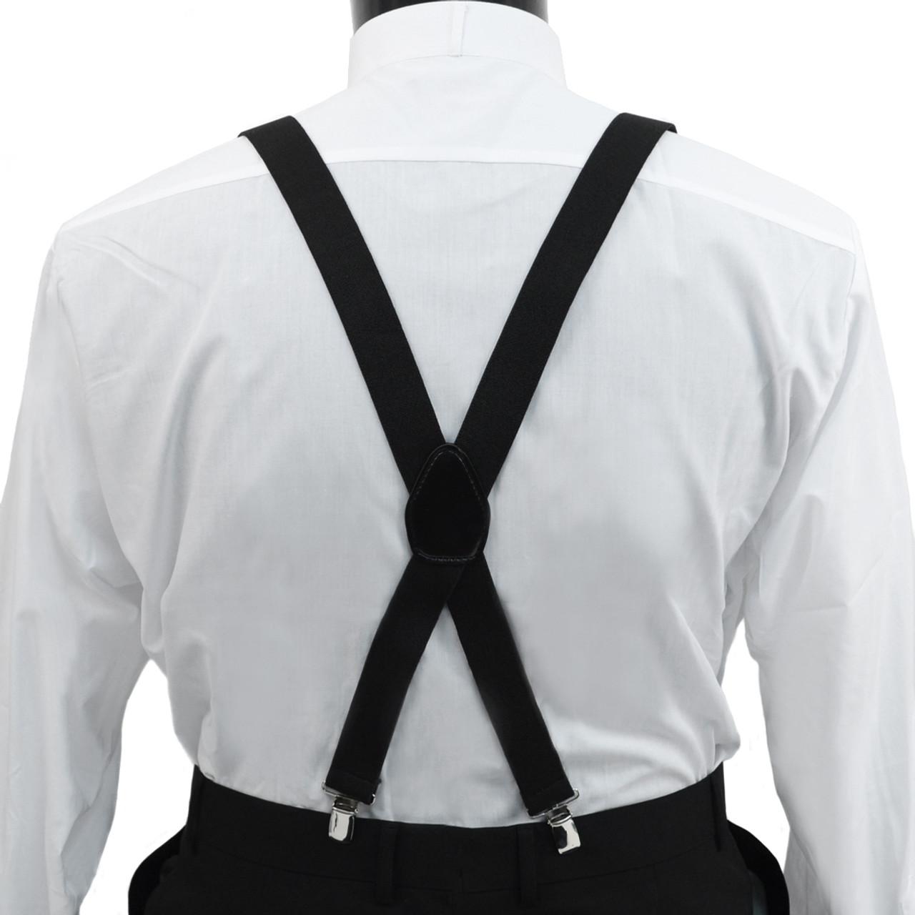 Men/'s Clip Suspenders Metal Clip Fastening Extendable CS1301
