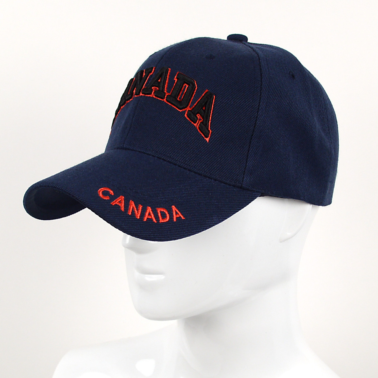9fef370e9e3b1 Canada Navy 3D Embroidered Baseball Cap
