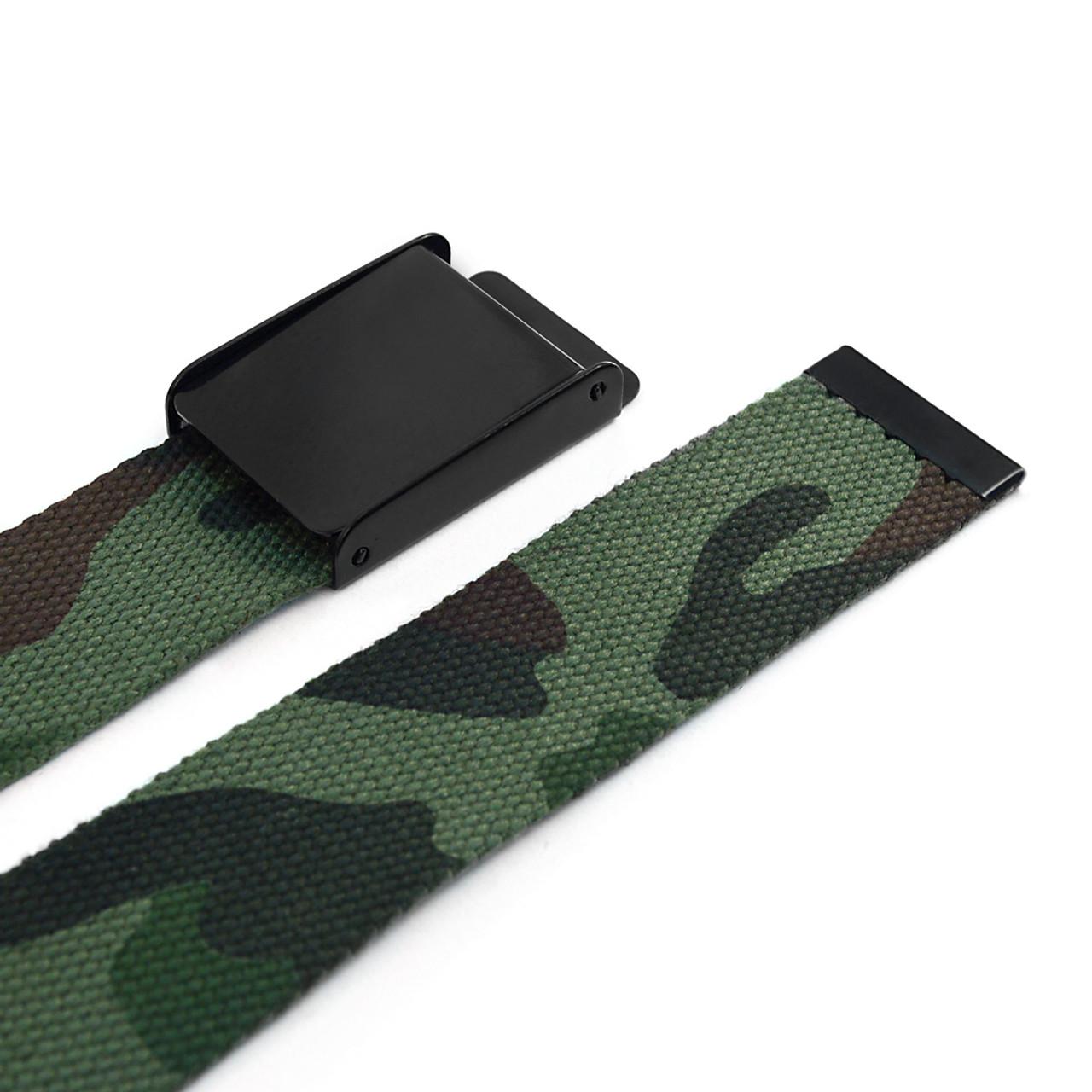 MILB3302 Flip to Buckle Miloitary Camo Canvas Belt
