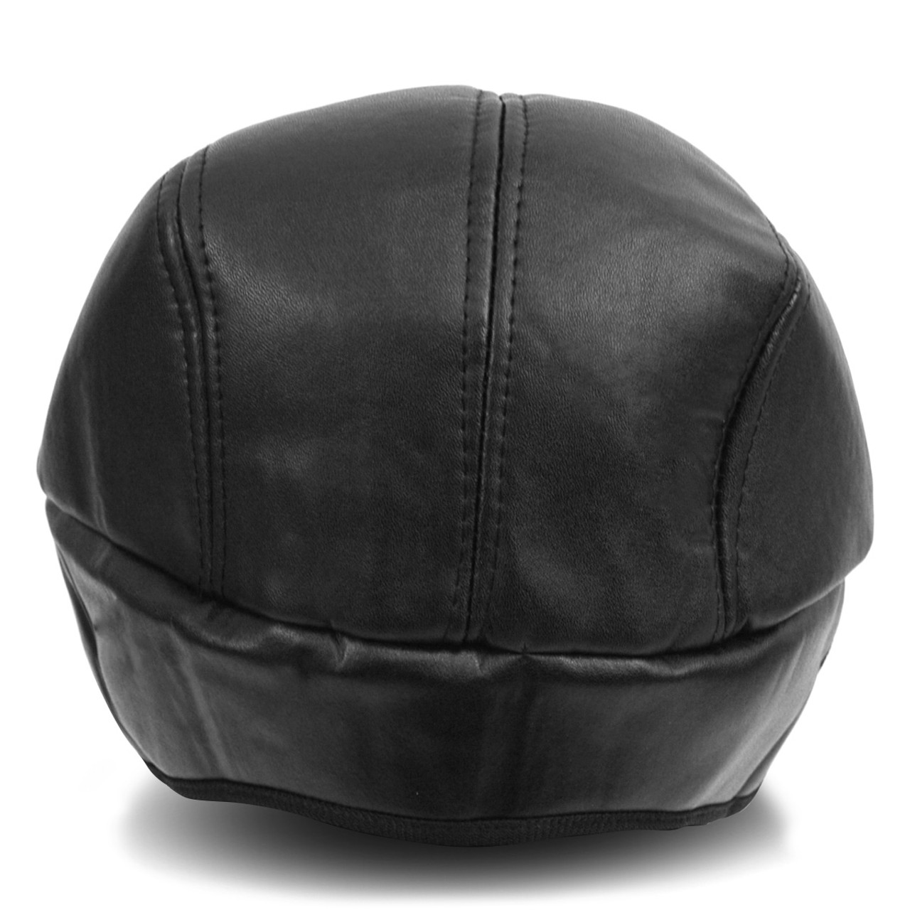 95b729ca60b72b ... Fall/Winter Traditional Leather Ivy Hat with Ear Flaps - H177306 ...