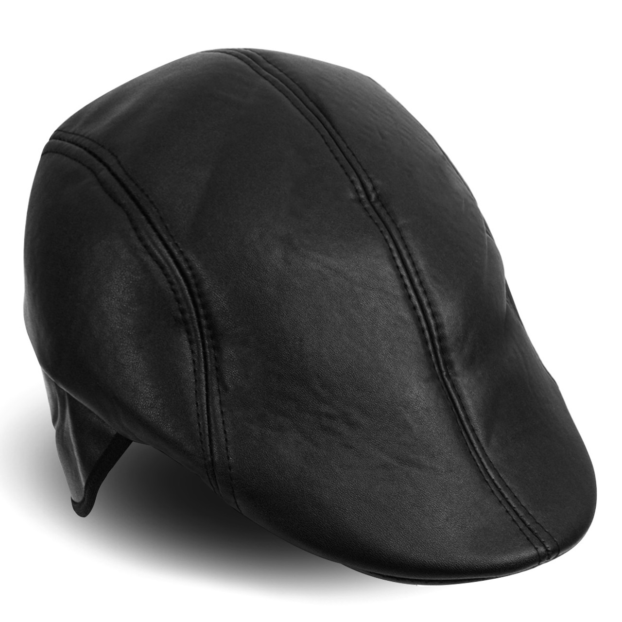 518c20f579edb9 Fall/Winter Traditional Leather Ivy Hat with Ear Flaps - H177306 ...