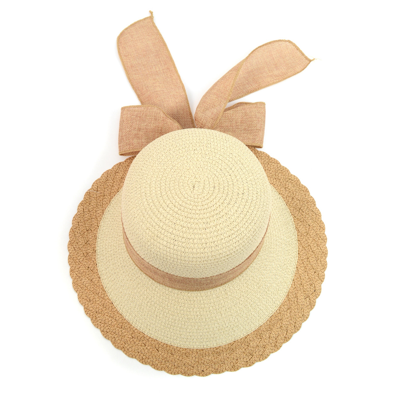 Women s Ribbon Bow Small Back Floppy Sun Hat LFH1888 df4f6c12ede