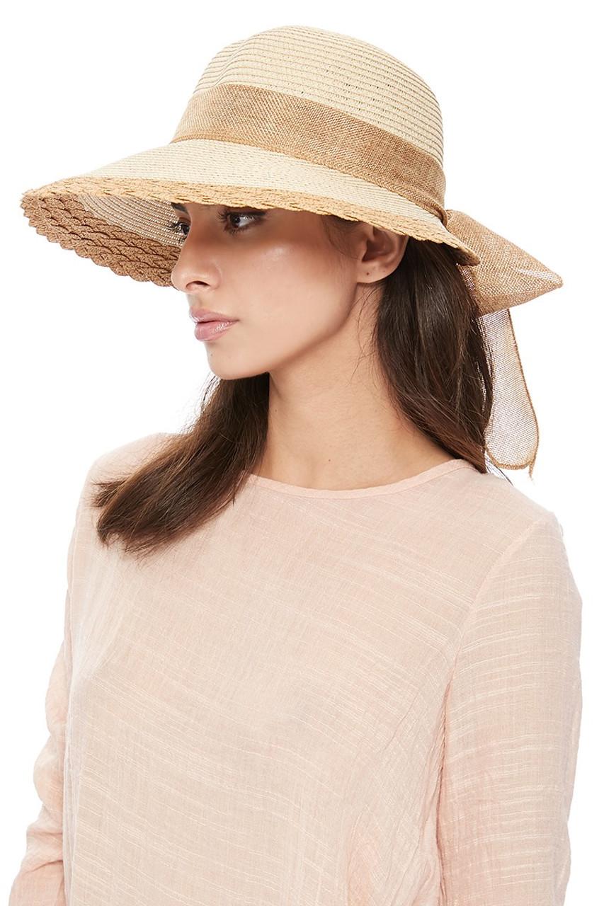 f5427d126 Women's Ribbon Bow Small Back Floppy Sun Hat LFH1888