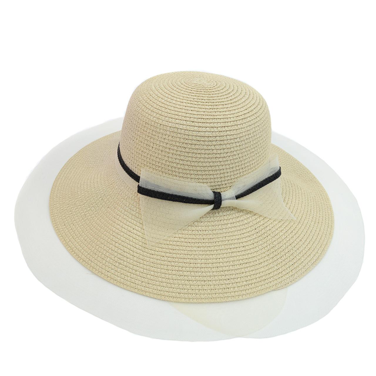 Women s Wide Brim Ribbon Band Floppy Hat LFH1890 9c55ac2a71c