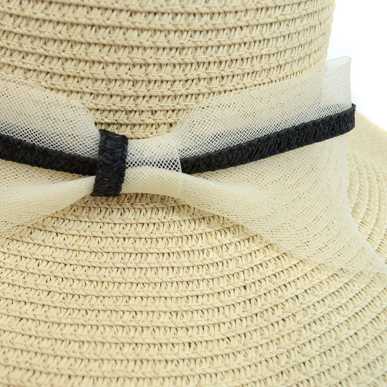 Women s Wide Brim Ribbon Band Floppy Hat LFH1890 eebbcccfe0a9