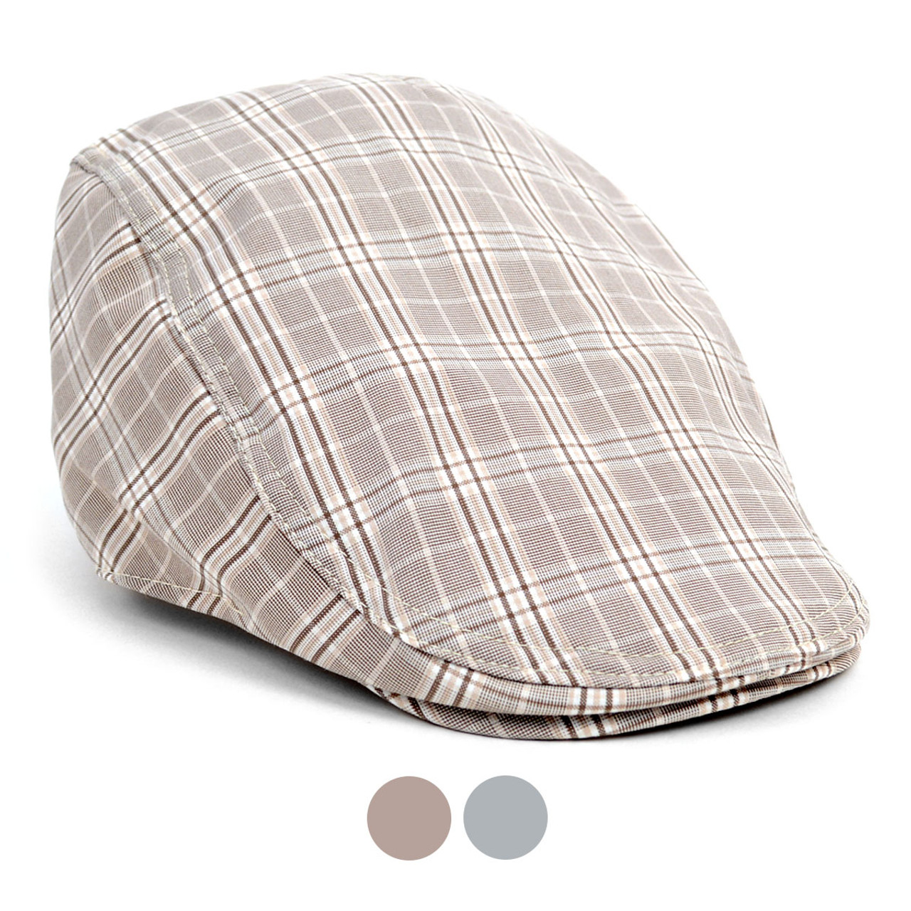 8685b379a9a8c Spring Summer Plaid Classic Ivy Hat - ISS1810