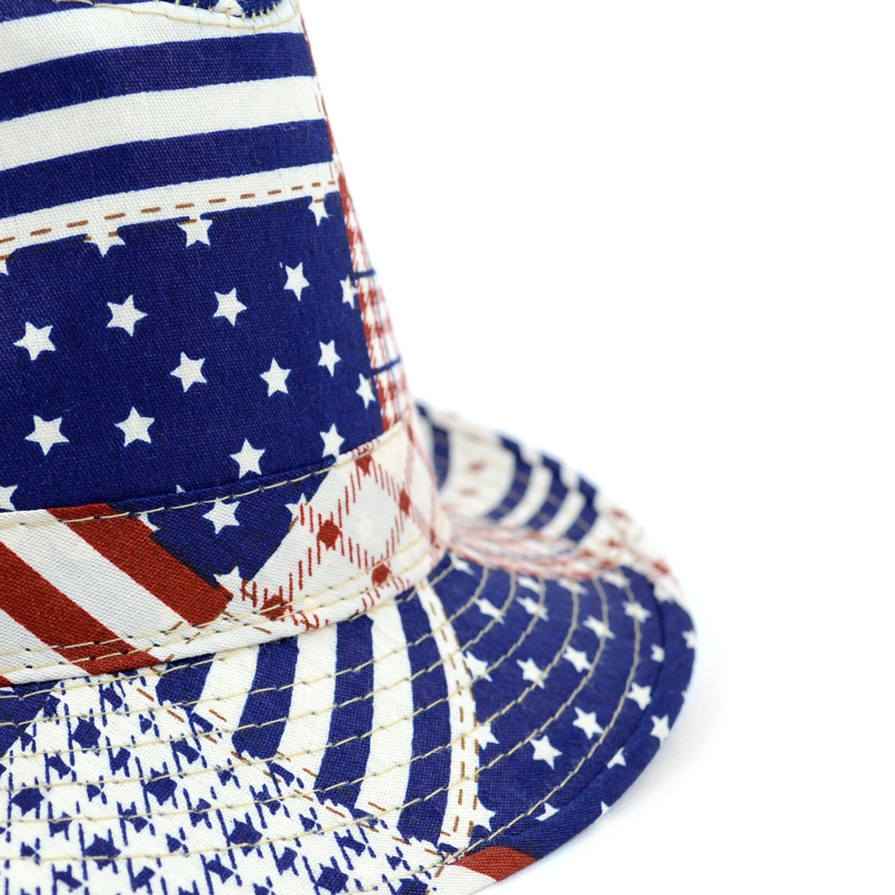 WESTEND Men/'s Spring//Summer Mixed USA Patterns American Flag Fedora Hat
