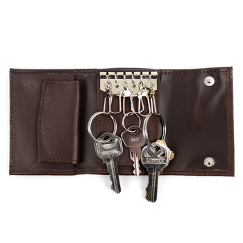 Genuine Leather Key Case Tri-Fold Wallets - 57