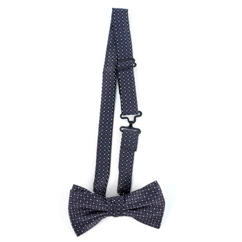 Boy's Black Clip-on Suspender & Plaid Bow Tie Set - BSBS-BK1