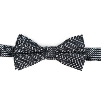 Boy's Black Clip-on Suspender & Plaid Bow Tie Set - BSBS-BK4