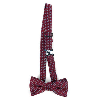 Boy's Burgundy Clip-on Suspender & Geometric  Bow Tie Set - BSBS-BUR2