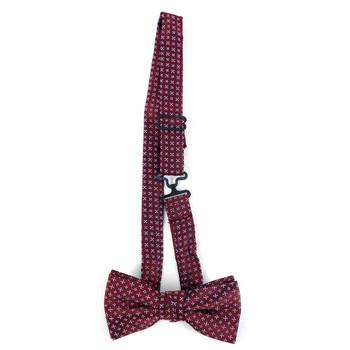 Boy's Burgundy Clip-on Suspender & Geometric  Bow Tie Set - BSBS-BUR2