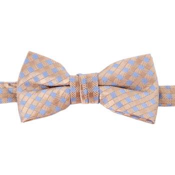 Boy's Khaki Clip-on Suspender & Dots Bow Tie Set (8-12 Years Old) - BSBS812-KHAKI2