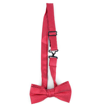 Boy's Red Clip-on Suspender & Dots Bow Tie Set - BSBS-RD1